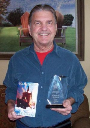 James M. Corkill with his BIBA Award